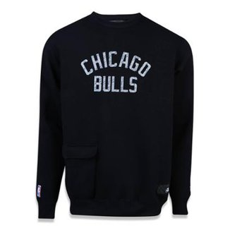 Moletom Careca Chicago Bulls NBA New Era Masculino