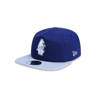 Boné Golfer Chicago Cubs MLB Aba Curva Snapback New Era 20eacd214b4