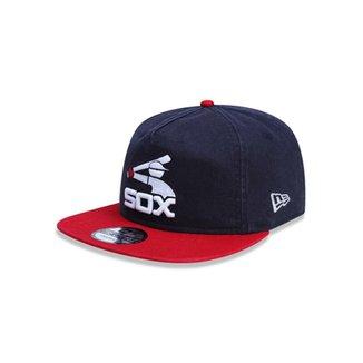 Boné Golfer Chicago Cubs MLB Aba Curva Snapback New Era 00f43ff3a94