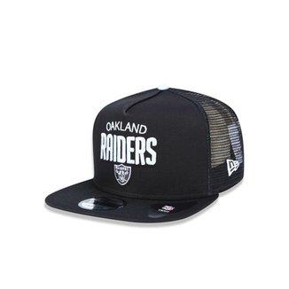 Boné 950 A-frame Oakland Raiders NFL Aba Reta Snapback New Era a4375c5e081