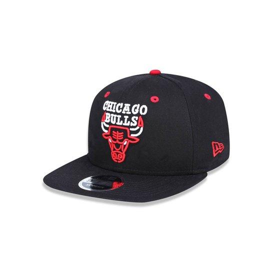 Boné 950 Original Fit Chicago Bulls NBA Aba Reta Snapback New Era - Preto 1971246d146