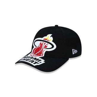 Boné 920 Miami Heat NBA Aba Curva Strapback New Era ae6bff4f764