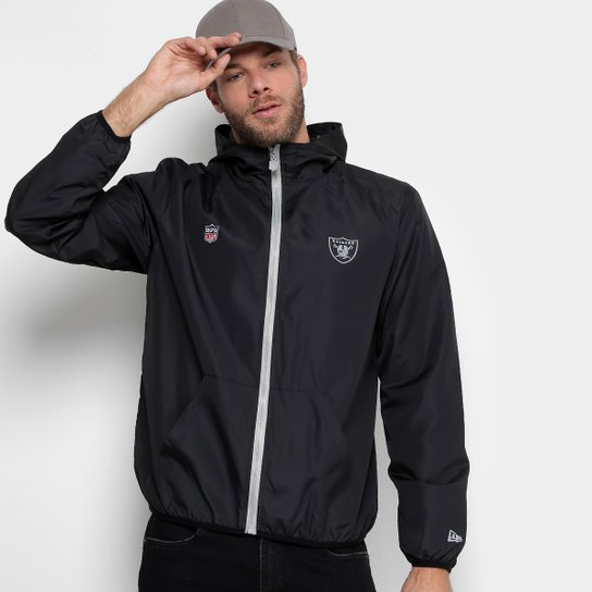 Jaqueta NFL Oakland Raiders New Era Windbreaker Masculina - Compre ... 47127937d34