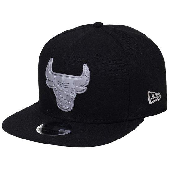 Boné New Era Aba Reta Snapback Nba Chicago Bulls R - Compre Agora ... 0e710b7833b