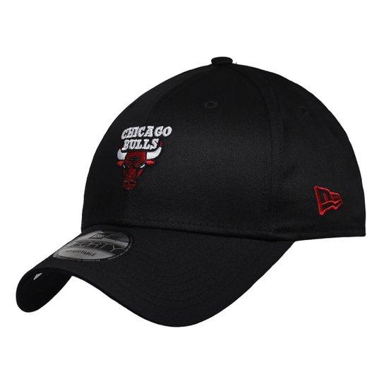 de4315ae1806d Boné New Era Aba Curva Snapback Nba Chicago Bulls - Preto - Compre ...