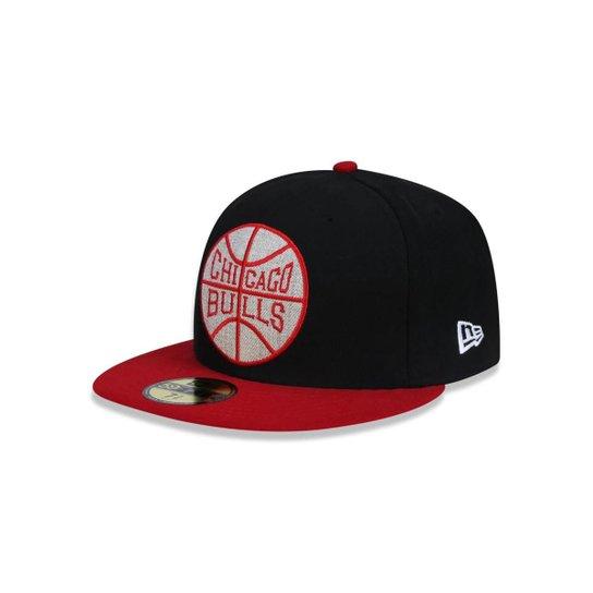 Boné 5950 Chicago Bulls NBA Aba Reta New Era - Preto - Compre Agora ... b3da4fa7882