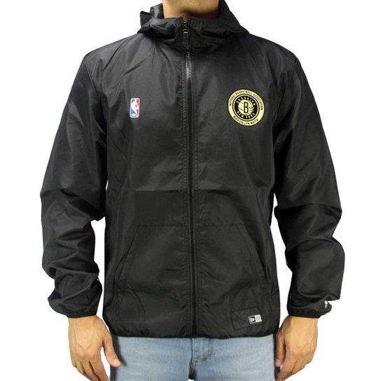 6e3ebef8cbe Jaqueta Corta Vento New Era NBA Brooklyn Nets Masculino - Compre ...