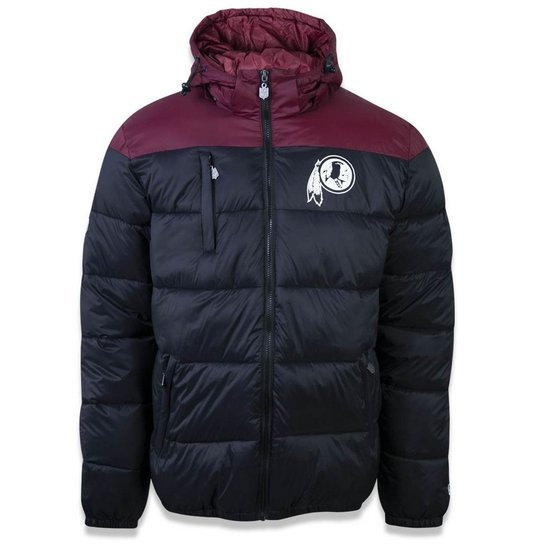 3e26e6cc87fd3 Jaqueta Bomber Washington Redskins Sports Vein New Era Masculina - Preto
