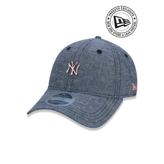 Boné 920 New York Yankees MLB Aba Curva New Era - Preto - Compre ... d567a201decd2