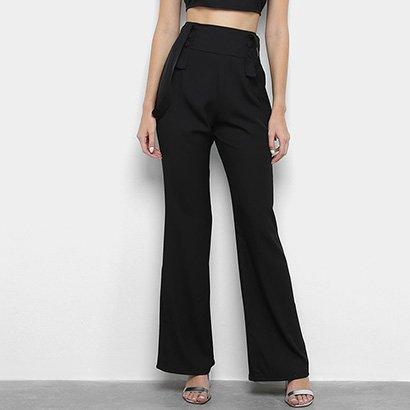 Calça Sabrina Sato Pantalona Suspensórios Feminina