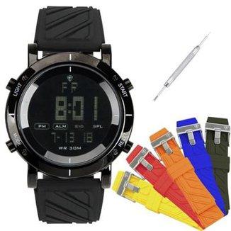2ffbbf15545 Relógio Masculino Tuguir Digital TG6017 Troca Pulseira