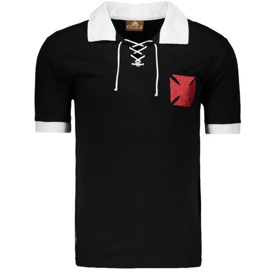 afeff357e0 Camisa Retrô Vasco Cruz de Malta Masculina - Preto - Compre Agora ...