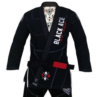 Kimono Black Ace Just Fight Masculino d6c848060346e