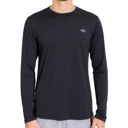4e959677b Camiseta Proteção UV DRY FPS 50++ Manga Longa Masculina - Preto ...
