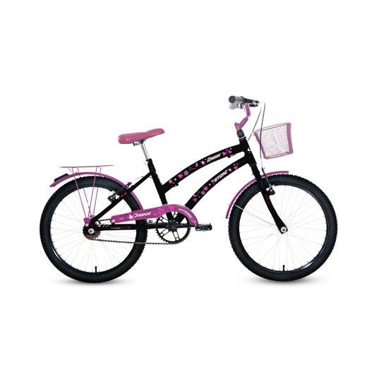 fe5ba8465 Bicicleta Aro 20 Drika Sem Marcha Feminina - Stone Bike - Preto