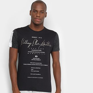 Camiseta Gangster Nothing Else Matters Masculina 8614069045a