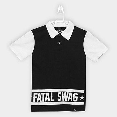 Camisa Polo Infantil Fatal Swag Masculina