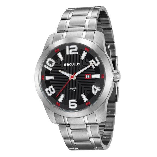 4982eb13d28 Relógio Seculus Long Life 20497G0SVNA2 Masculino - Compre Agora ...