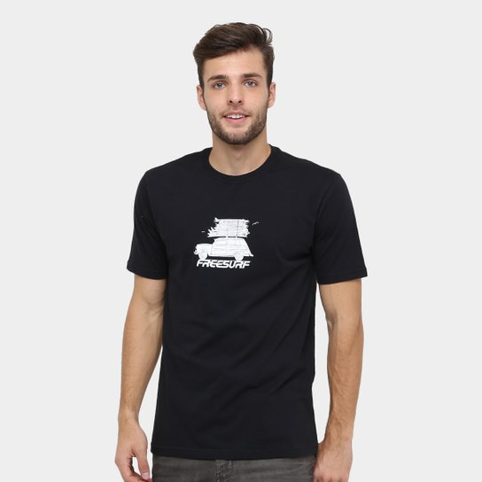 14e48665cf48c Camiseta Free Surf Basica Car - Preto - Compre Agora   Netshoes