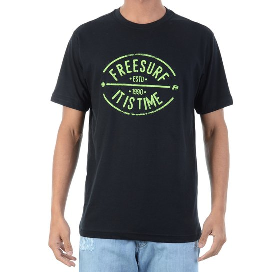 5b5498cece Camiseta FreeSurf Neon - Preto