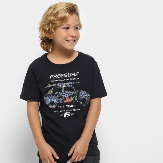9692793f20 Camiseta Infantil Freesurf Básica Masculina - Preto