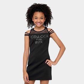 a0e2cc3bc Vestido Infantil Colcci Fun Assimétrico Curto Paetê - Compre Agora ...