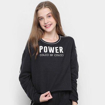 Moletinho Infantil Colcci Cropped Power Feminino