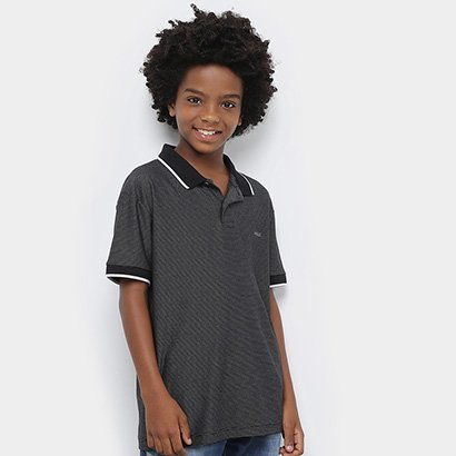 Camisa Polo Infantil Colcci Fun Listrada Masculina
