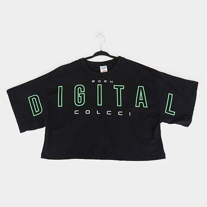 Blusa Cropped Infantil Colcci Fun Digital Feminina