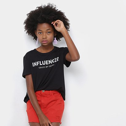 Blusa Infantil Colcci Fun Influencer Feminina