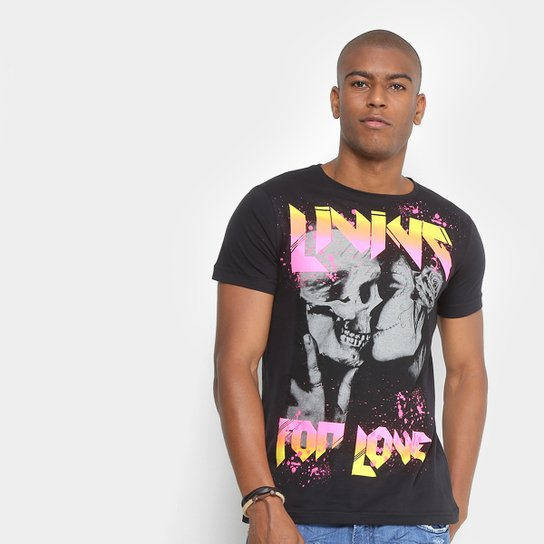 d656d78f5e Camiseta Sideway Caveira Neon Masculina - Preto - Compre Agora ...
