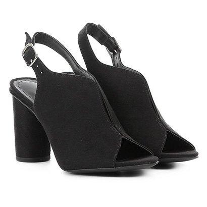 Ankle Boot Zatz Recorte Salto Alto Feminino