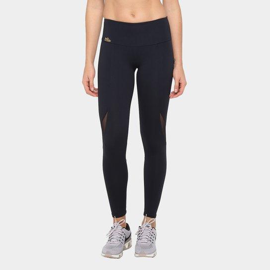 aaf781e95 Calça Legging Sawary Fitness Com Renda Lyon Victória Feminina - Preto