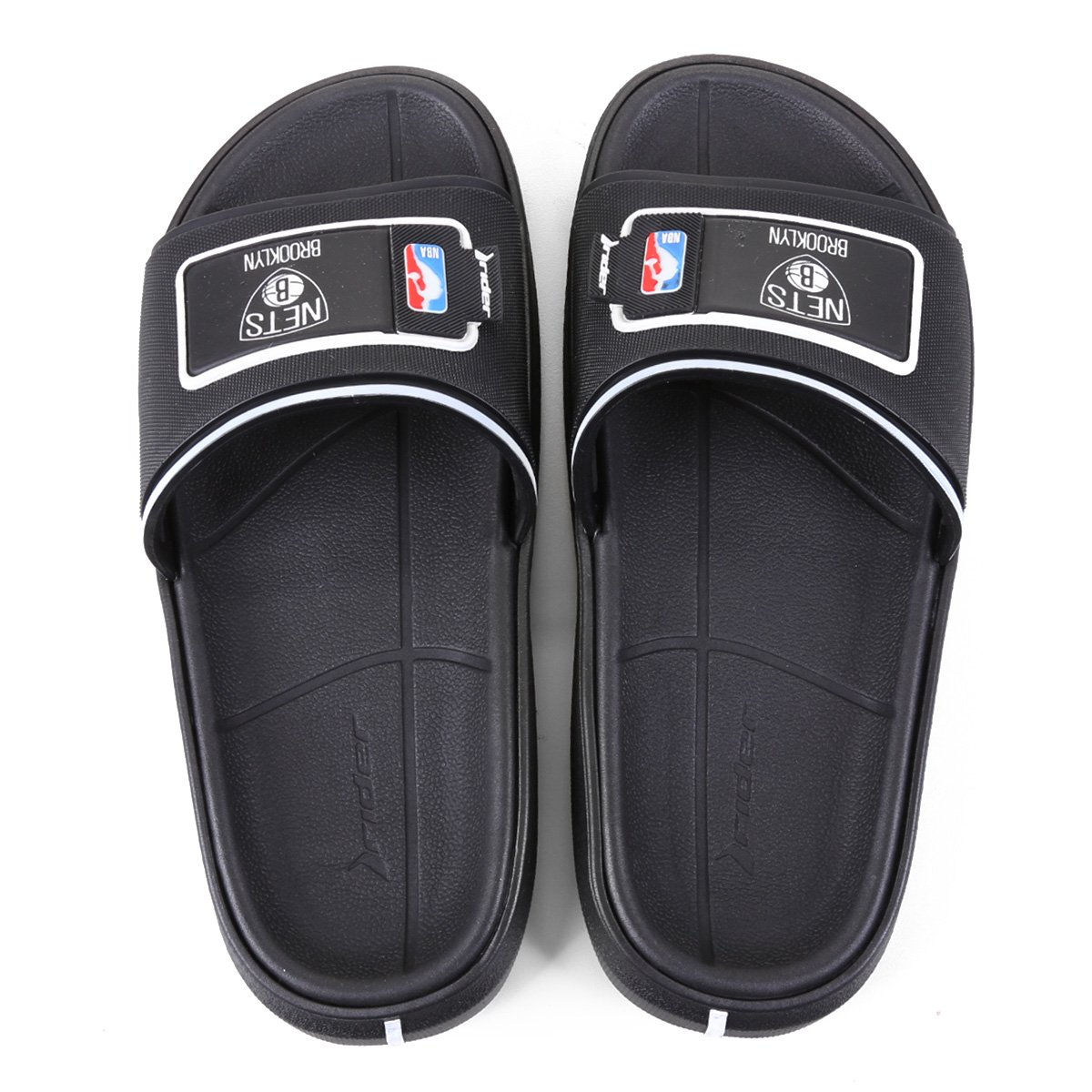 Chinelo Rider NBA Block Slide Ad Brooklyn Nets Masculino