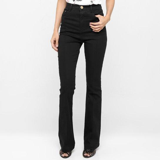 3ae62b1d8 Calça Jeans Zune Flare Cintura Alta - Preto
