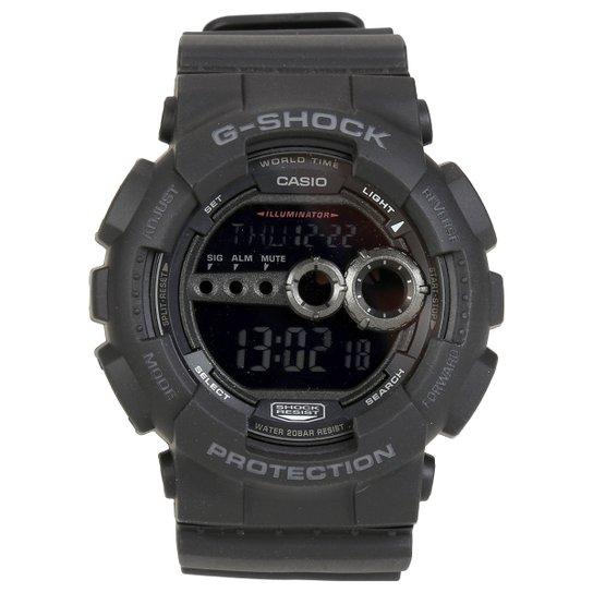 54fc9a3709f Relógio G-Shock Digital GD-100-1BDR - Preto - Compre Agora