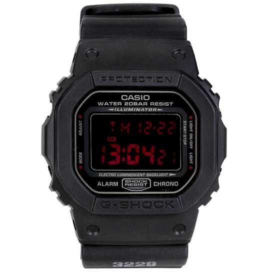 1045dbf9540 Relógio G-Shock Digital DW-5600MS-1DR - Preto - Compre Agora