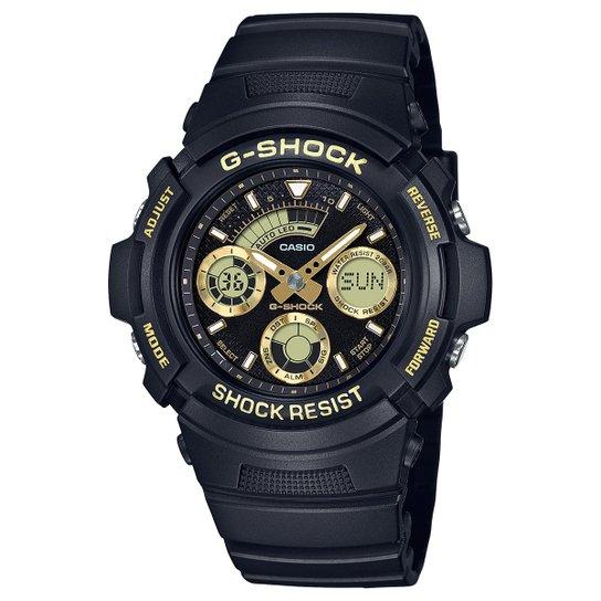 723ac26c718 Relógio Analógico Digital G-Shock AW-591GBX-1A9DR Masculino - Preto ...