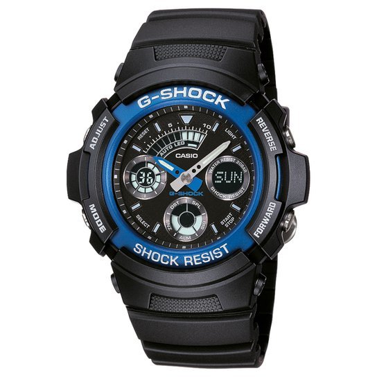 bea81114fc2 Relógio Analógico Digital G-Shock AW-591-2ADR Masculino - Preto ...