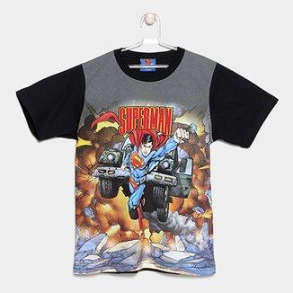 Camiseta Infantil Marlan Super Man Masculina 4a2645c3b5b