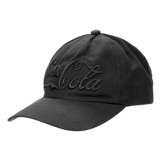 Boné Coca-Cola Aba Curva Bordado Logo Masculino - Preto - Compre ... 48b95d13126