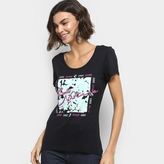 Camiseta Coca-Cola Estampada Feminina - Preto - Compre Agora   Netshoes f8caabcd7b