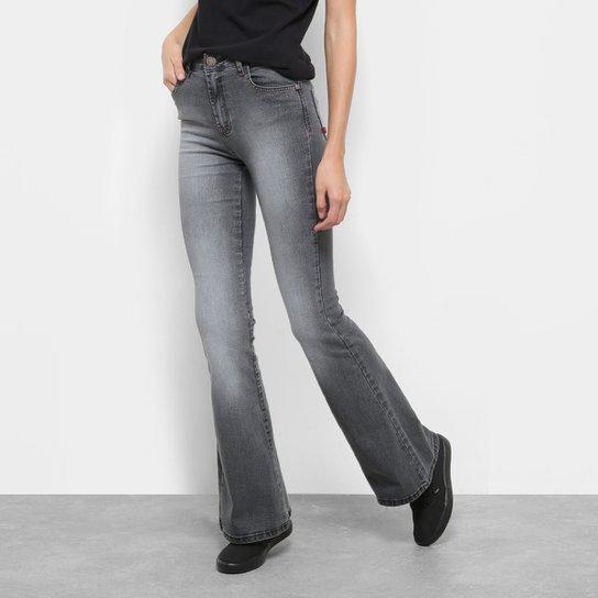 435593e2f Calça Jeans Flare Coca-Cola Cintura Média Feminina - Preto | Netshoes
