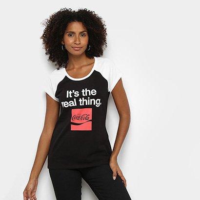 Camiseta Coca Cola Real Thing Feminina