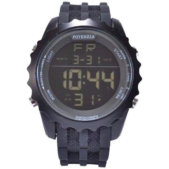 7b8a2e80f46 Relógio Potenzia Digital Running Esportivo À prova Dàgua - Preto ...