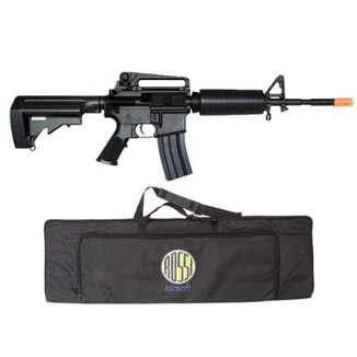 Rifle Airsoft Elétrico M4a1 M819 Double Eagle Bivolt 6Mm + Capa Airsoft Rossi