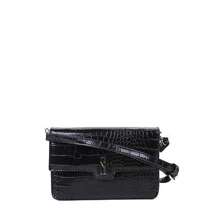 Bolsa Santa Lolla Mini Bag Croco Alto Brilho Feminina