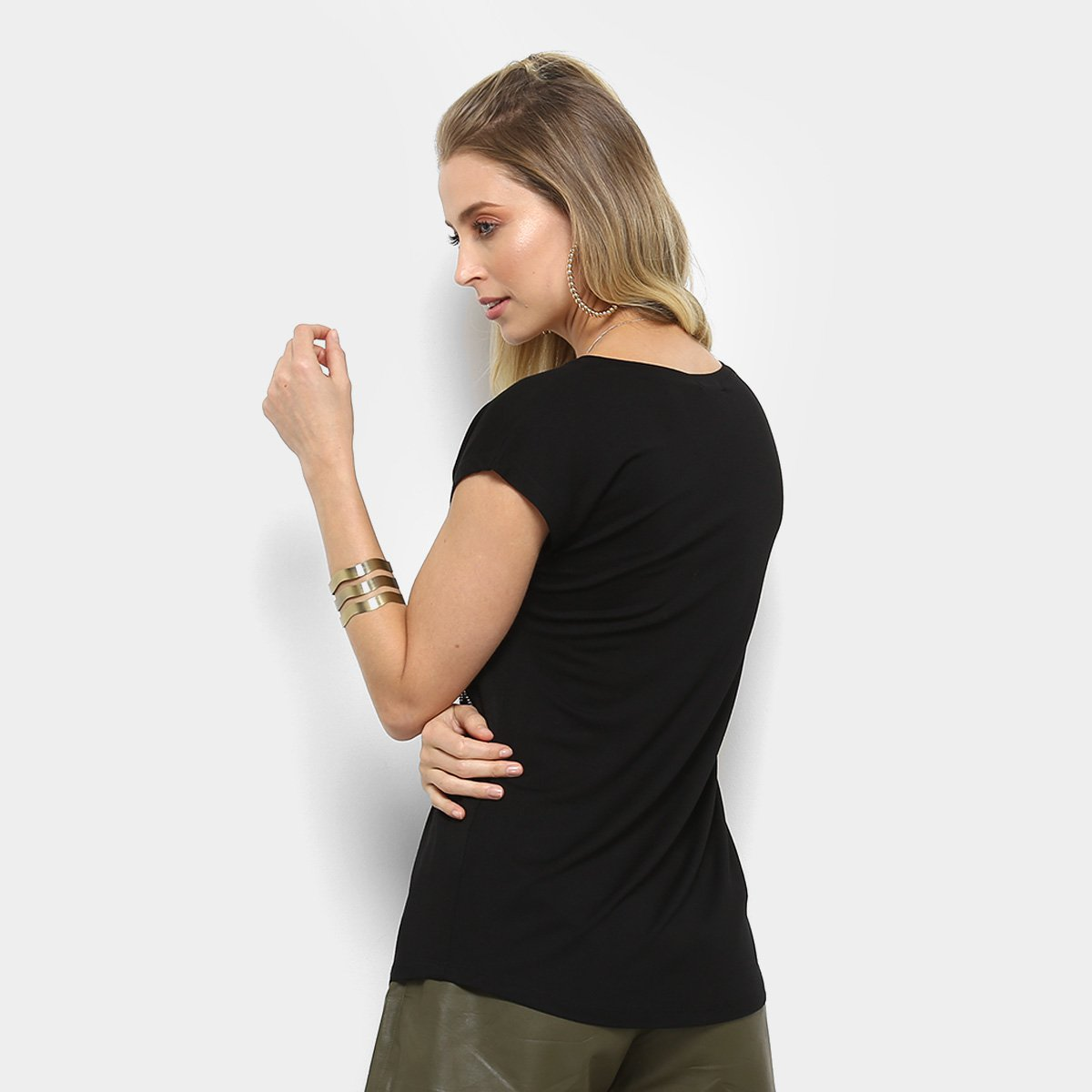 6b5dc4d6b ... Foto 2 - Camiseta Facinelli Paris Pelúcia Feminina