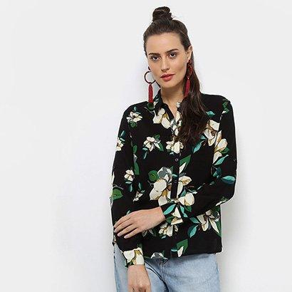 c0e42c787e Camisa Facinelli Estampada Floral Manga Longa Feminina