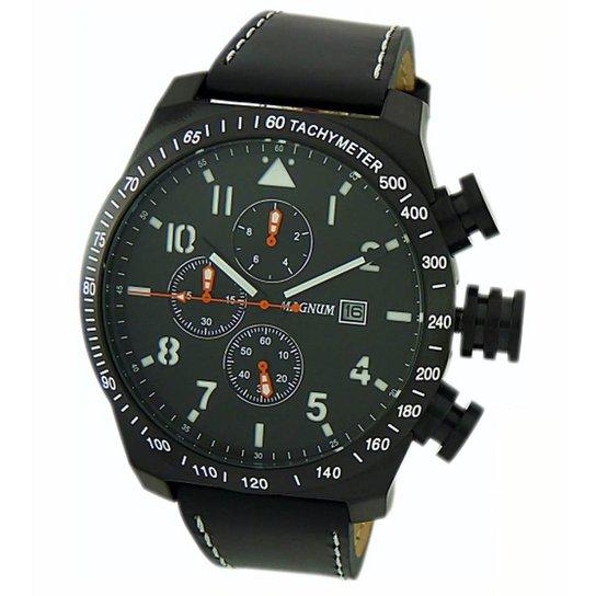 33c34684a8 Relógio Masculino Magnum Analogico Cronografo Com Calendario - Preto